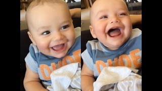 Baby Ollie thinks POOP is HILARIOUS! 💩😂