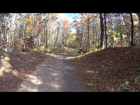 Milford Bike Path from Fino Field to the trail head at Hopkinton town line