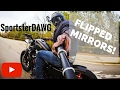 FLIPPED MIRRORS ON IRON 883, PROS AND CONS!