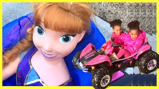 New 2016 Kids Toys Review  - Preschool Kids Playing Outside Riding BigWheel Car - Mundo de Juguetes