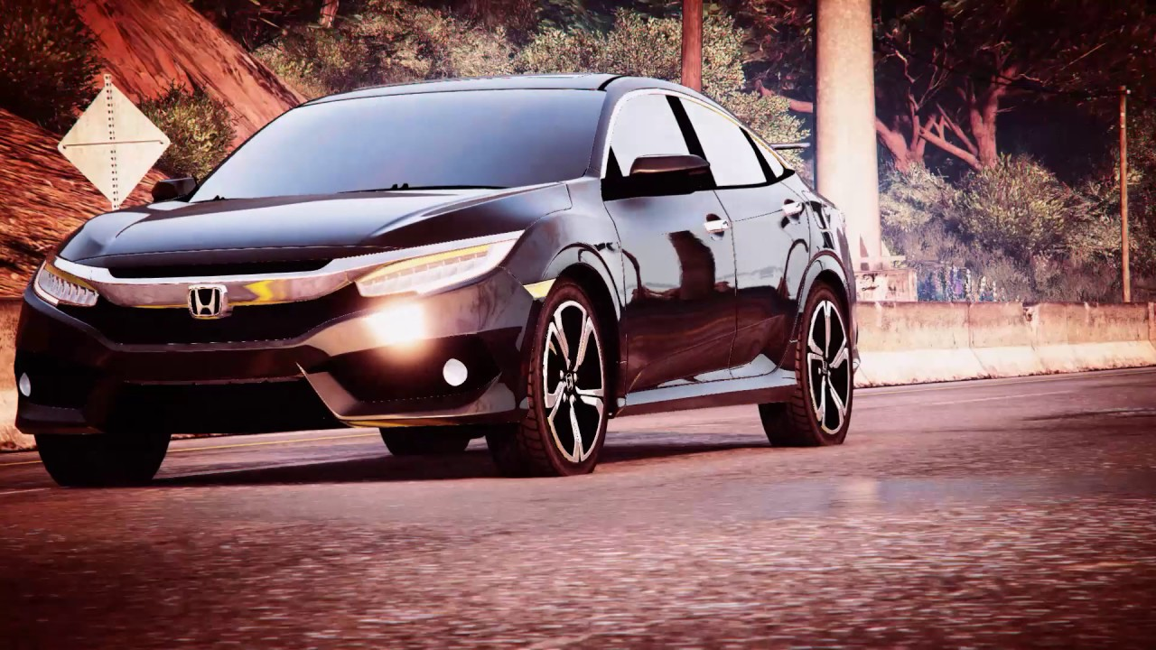 gta v honda civic 2016 2017 10th generation sedan. Black Bedroom Furniture Sets. Home Design Ideas