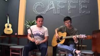 Ánh trăng lẻ loi sáo: Minh Nhựt guitar cover Tri Tâm tại cafe take away 1-1-2015