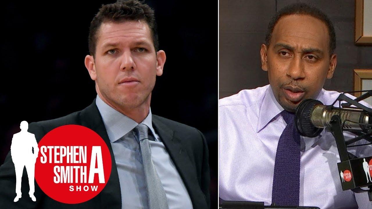 ab64930723d Luke Walton 'won't last the season' if Lakers' slow start continues |  Stephen A. Smith Show. ESPN