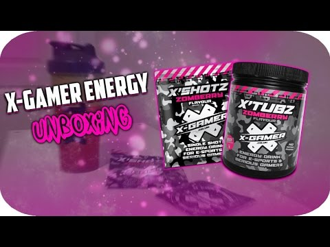 X-Gamers Energy Zomberry Unboxing/Review - Better Than G fuel?!