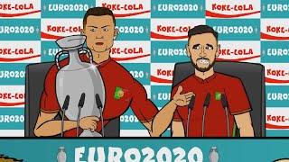 Реакция футболистов на результаты 1 8 ЕВРО 2020 Реакция Роналду Кейна Левандовски и других