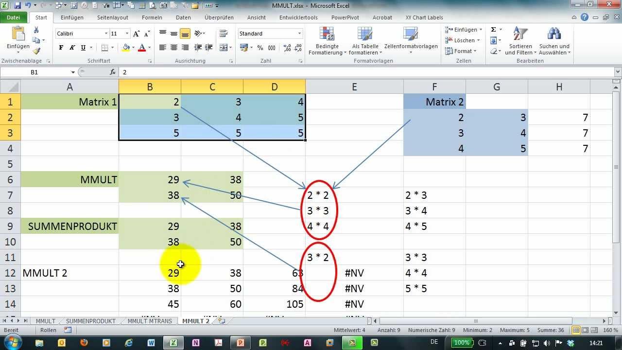 Excel formel multiplizieren