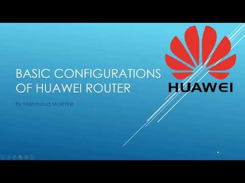 Huawei Basic Configuration 01- Configure IP Address
