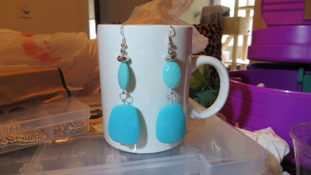 DIY?  Turquoise? ? earrings Show~n~ Tell?(OLDER VIDEO FROM SUMMER OF 2019)