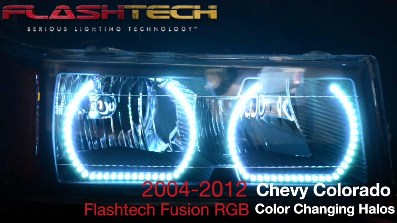 2004-2012 Chevy Colorado V.3 FUSION COLOR CHANGE LED HALO ...