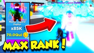 I Grinded For 10 Hours AND GOT MAX RANK IN NINJA LEGENDS AND BECAME SOO OP! (Roblox)