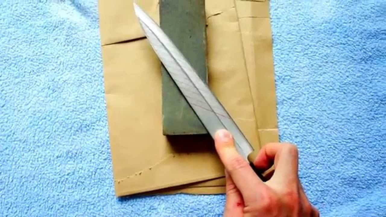 How to properly sharpen knives at home