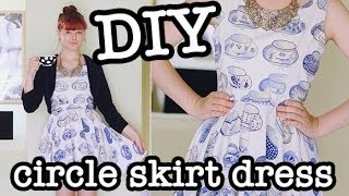 Diy Circle Skirt Dress (aka Skater Dress)