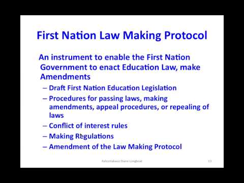 ONECA First Nation Education Law Protocol