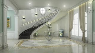 Sketchup Stairs Design 2 + Vray 3.4 Render