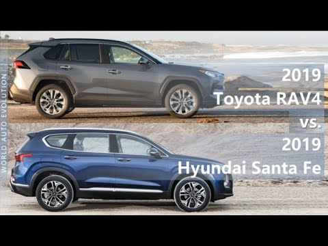 2019 Toyota RAV4 Vs 2019 Hyundai Santa Fe (technical Comparison)