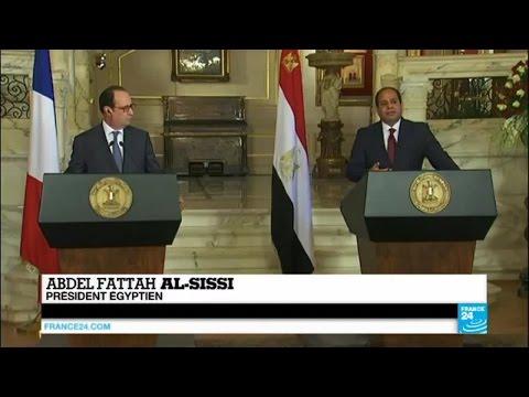 Hollande en Égypte : Abdel Fattah al-Sissi irrité par la question des droits de l'Homme