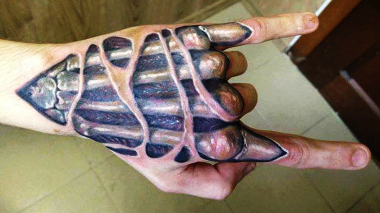Best 3D Tattoos - 3D Hand Tattoo Designs ►Part 2