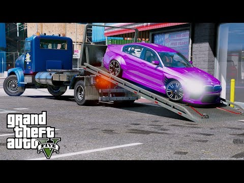 GTA 5 REAL LIFE MOD - ANOTHER DAY AT WORK #45 BMW M5 Repo With Our New Ace Trucking Rollback Wrecker