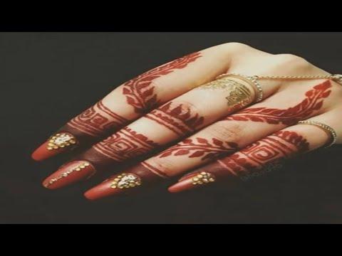 Super Cute 100+ Finger Mehndi Designs // Easy Finger Henna Mehndi Design