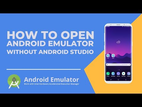 How To Open Android Emulator Without Android Studio - With CMD