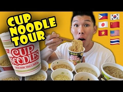 COMPARING RAMEN CUP NOODLES Around the WORLD - Life After College: Ep. 508