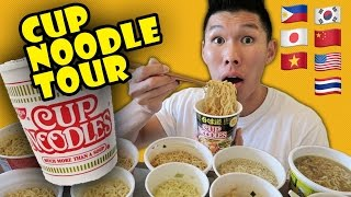 COMPARING RAMEN CUP NOODLES Around the WORLD ...