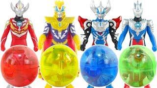 奧特曼發光扭蛋奇趣蛋  ultraman surprise eggs Cashapon超人力霸王扭蛋