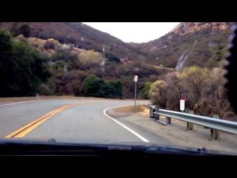 Scenic Drive on Mulholland Highway, in The Santa Monica California Mountains