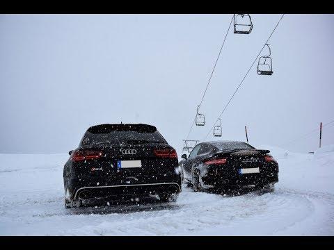 Porsche 911 991 Turbo S Vs. Audi RS6 Snow Drift - Fun Im Schnee