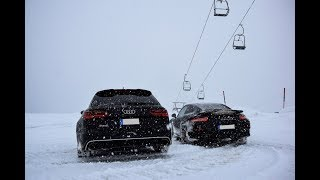 Porsche 911 991 Turbo S vs. Audi RS6 Snow Drift - Fun im Schnee
