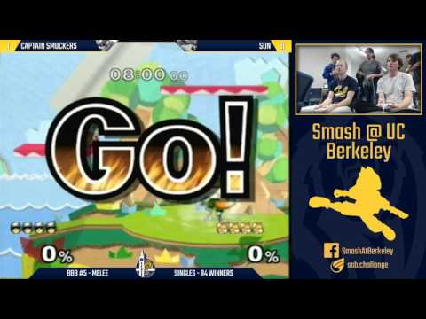 Berkeley Biweekly Battles #5 - Melee Singles R4 Winners: Captain Smuckers vs Sun