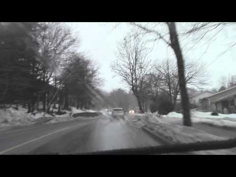 Pouring Rain to Heavy Snow in 20 Minutes - Driving in Halifax, Nova Scotia