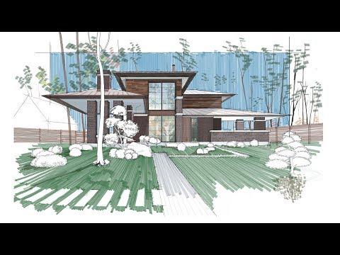 Architectural Rendering Using Autodesk Sketchbook (Mac & iPad Pro) PLEASE READ DESCRIPTION
