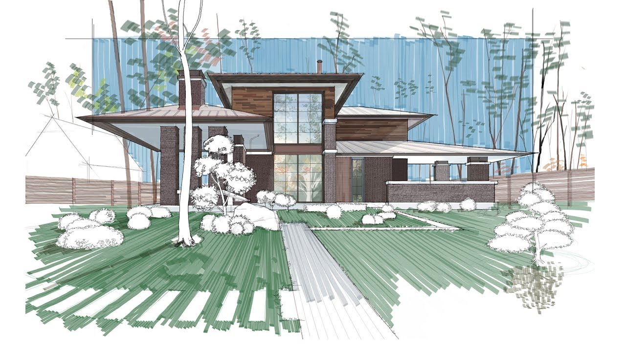 Architectural Rendering Using Autodesk Sketchbook Mac