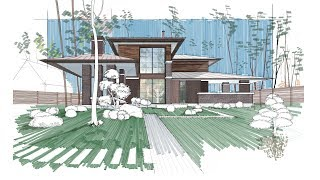 Architectural Rendering Using Autodesk Sketchbook  Mac & Ipad Pro  Please Read Description