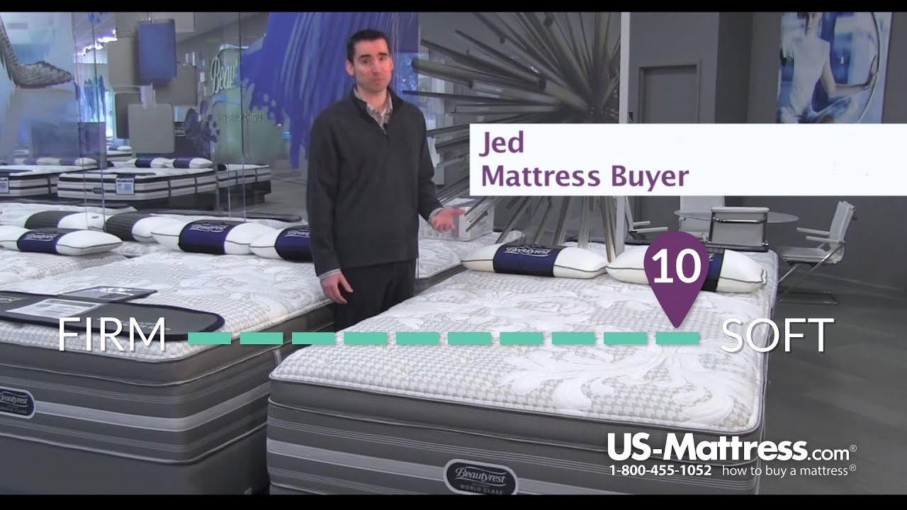 simmons beautyrest recharge world class tillingham ii plush pillow top mattress