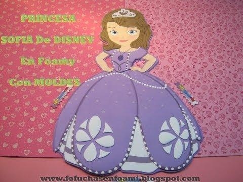 PRINCESA SOFIA DE DISNEY EN FOAMY O GOMAEVA CON MOLDES PARA ...