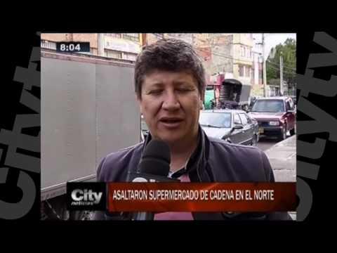 Delincuentes asaltaron supermercado de cadena en el norte de Bogotá. | CityTV | Noviembre 18