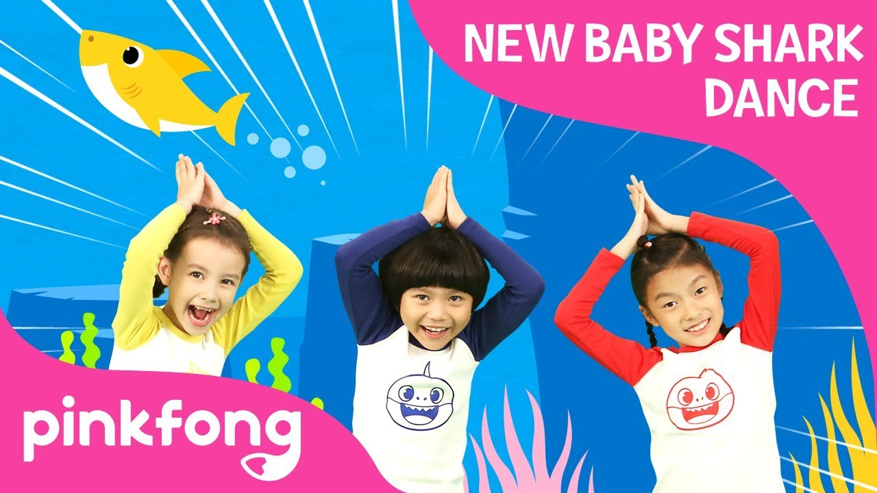 New Baby Shark Dance Baby Shark Dance Dance Along Pinkfong Songs For Children Youtube