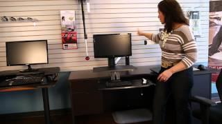How ergonomic are desk riser solutions like Varidesk and Ergotron?