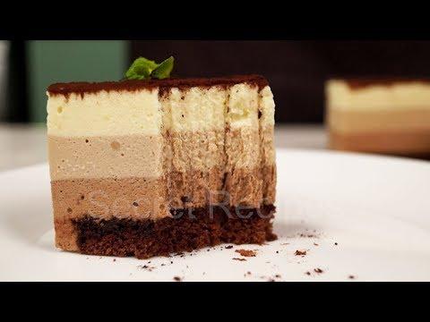 ДАЖЕ НОВИЧОК ПРИГОТОВИТ ЭТОТ ТОРТ! Нежнейший торт три шоколада из баварского крема
