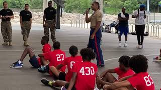 The US Marines speak to the Athletes during the HealthJox Festival - 2021.