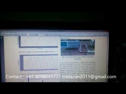 cascaded H-bridge multilevel inverter using embedded Controller