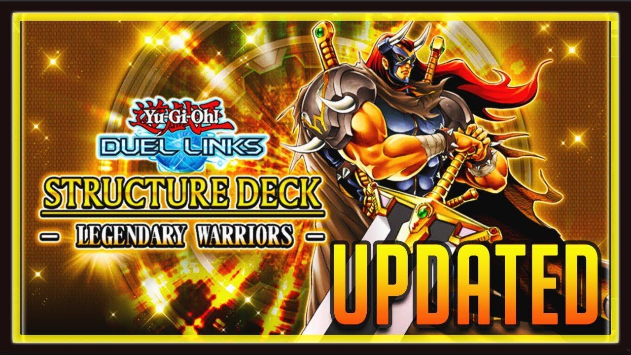 yu gi oh duel links updated legendary warriors structure deck