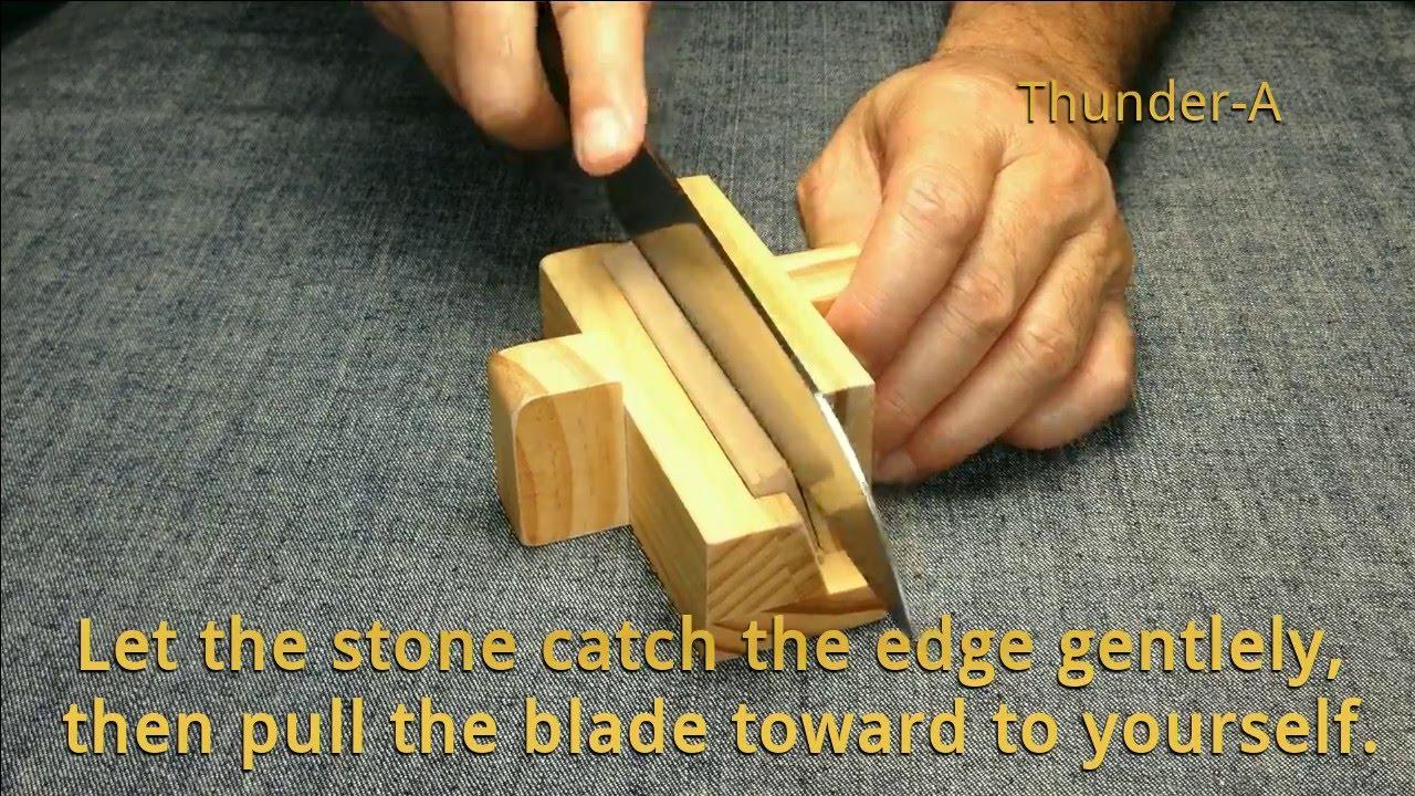 blade edge realign light honing fixed angle knife sharpener