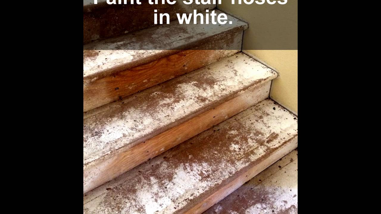 How To Avoid Cutting Stair Noses In DIY Wood Laminate Instalation.