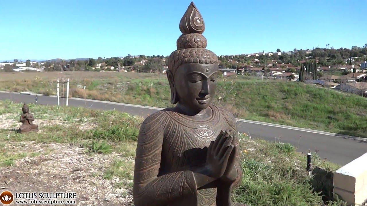 Anjali Namaste Buddha Garden Statue Lotussculpture Youtube