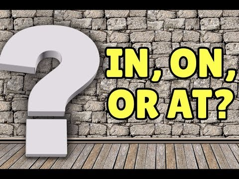 English Prepositions: IN, ON, AT