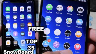 NEW Top 35 FREE SnowBoard Themes iOS 12/13/13.3