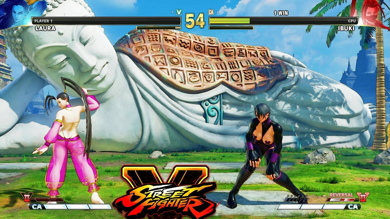 Street Fighter V AE Laura vs Ibuki PC Mod